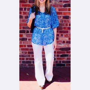 CAbi White Flare Jeans